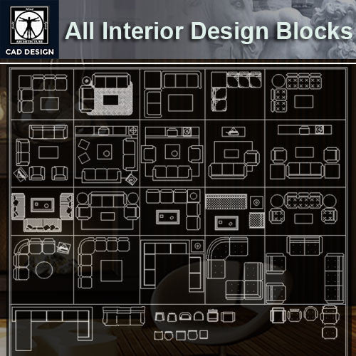 All Interior Design Blocks 4 - CAD Design | Download CAD Drawings | AutoCAD Blocks | AutoCAD Symbols | CAD Drawings | Architecture Details│Landscape Details | See more about AutoCAD, Cad Drawing and Architecture Details