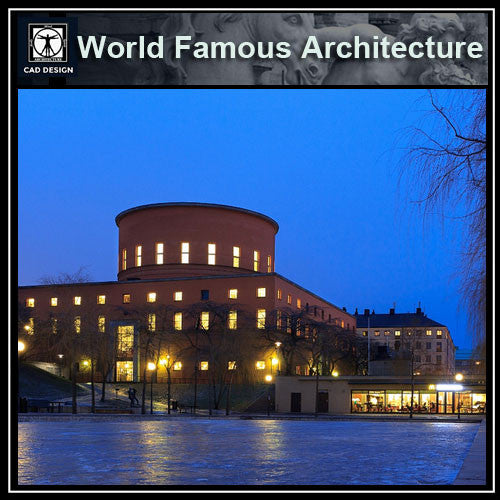 Stockholms stadsbibliotek-Gunnar Asplund - CAD Design | Download CAD Drawings | AutoCAD Blocks | AutoCAD Symbols | CAD Drawings | Architecture Details│Landscape Details | See more about AutoCAD, Cad Drawing and Architecture Details
