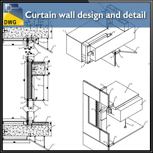 Curtain Wall Design And Detail In Autocad Dwg Files Cad