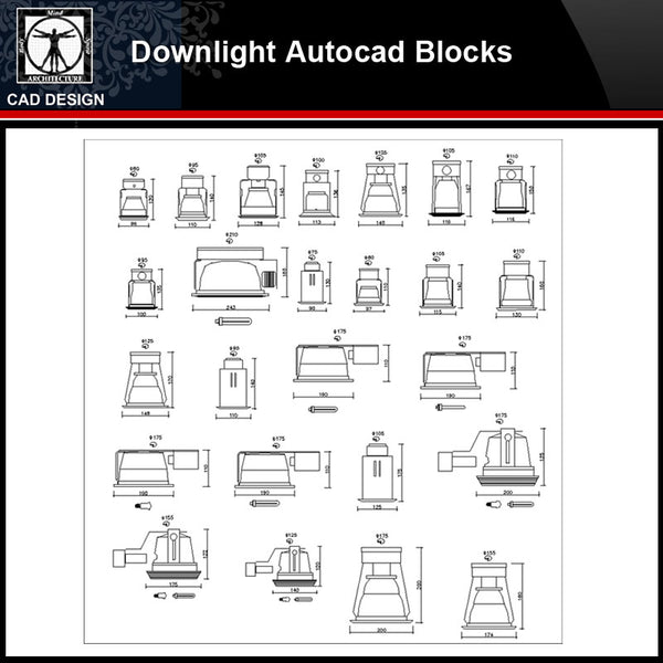 【 Downlight Blocks Collection】Downlight Autocad Blocks Collection - CAD Design | Download CAD Drawings | AutoCAD Blocks | AutoCAD Symbols | CAD Drawings | Architecture Details│Landscape Details | See more about AutoCAD, Cad Drawing and Architecture Details