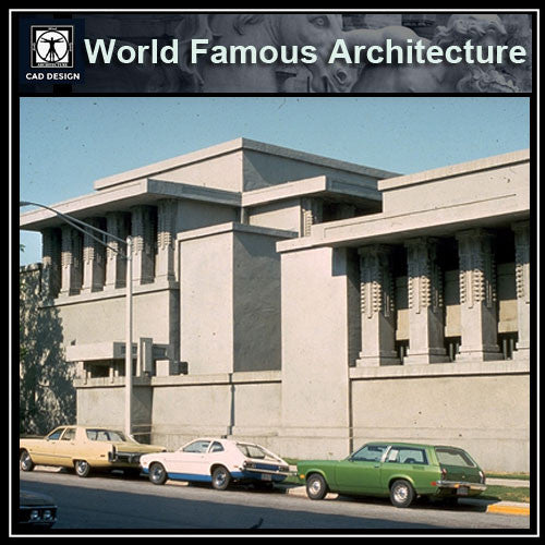 Unity Temple-Frank Lloyd Wright - CAD Design | Download CAD Drawings | AutoCAD Blocks | AutoCAD Symbols | CAD Drawings | Architecture Details│Landscape Details | See more about AutoCAD, Cad Drawing and Architecture Details