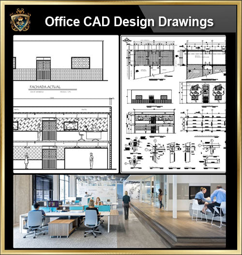 ★【Office, Commercial building, mixed business building, Conference room, bank,Headquarters CAD Design Drawings V.3】@Autocad Blocks,Drawings,CAD Details,Elevation