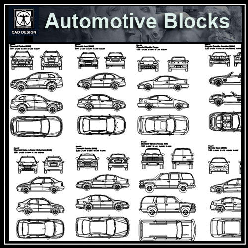 Automobile-Blocks and elevation