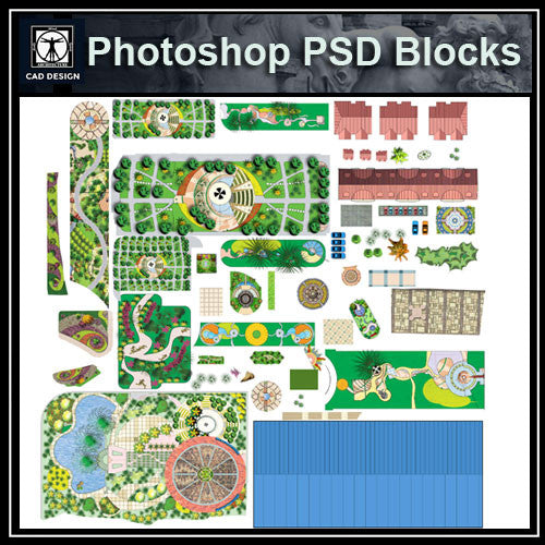 Photoshop PSD Paving Design Blocks 3