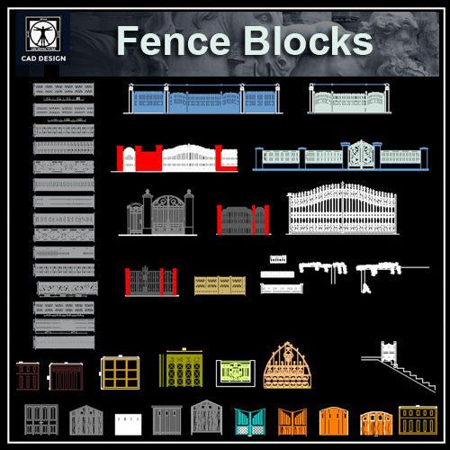 Door and fence design blocks