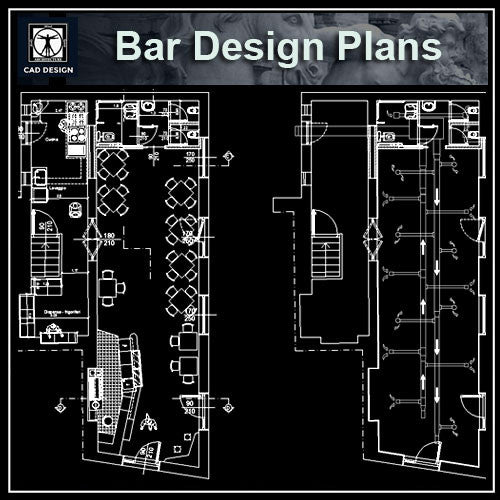 Architecture drawings tagged bar cad design free - Divanetti bar dwg ...