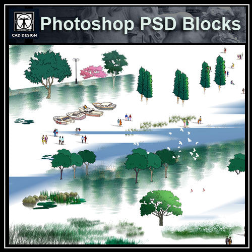 Hand-painted PSD Landscape elevation 4 - CAD Design | Download CAD Drawings | AutoCAD Blocks | AutoCAD Symbols | CAD Drawings | Architecture Details│Landscape Details | See more about AutoCAD, Cad Drawing and Architecture Details