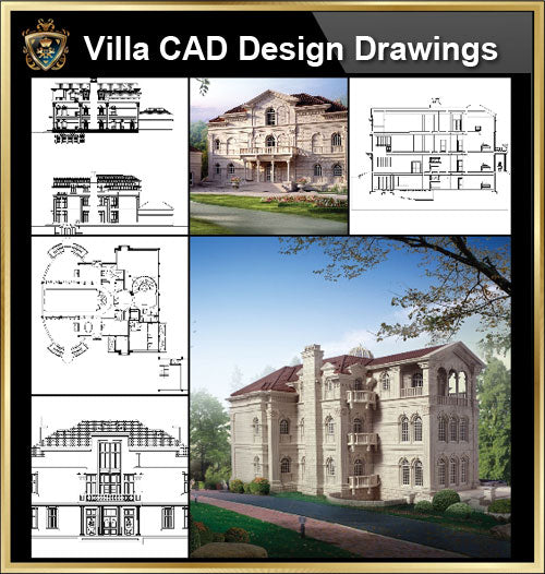 ★【Villa CAD Design,Details Project V.6-Italian Florentine Style】Chateau,Manor,Mansion,Villa@Autocad Blocks,Drawings,CAD Details,Elevation - CAD Design | Download CAD Drawings | AutoCAD Blocks | AutoCAD Symbols | CAD Drawings | Architecture Details│Landscape Details | See more about AutoCAD, Cad Drawing and Architecture Details