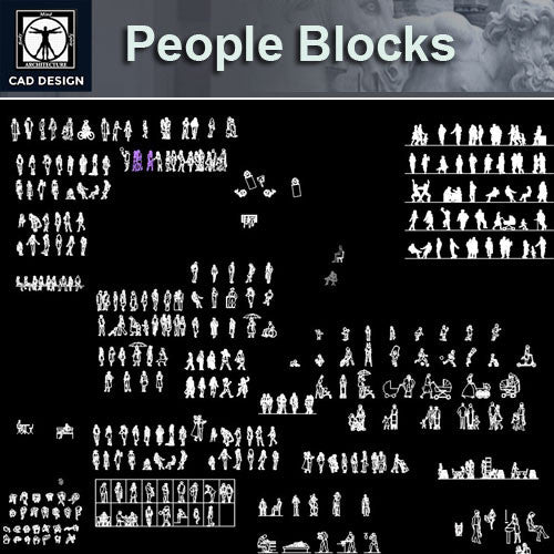 People Blocks Set