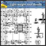Light weight roof architecture structure detail - CAD Design | Download CAD Drawings | AutoCAD Blocks | AutoCAD Symbols | CAD Drawings | Architecture Details│Landscape Details | See more about AutoCAD, Cad Drawing and Architecture Details