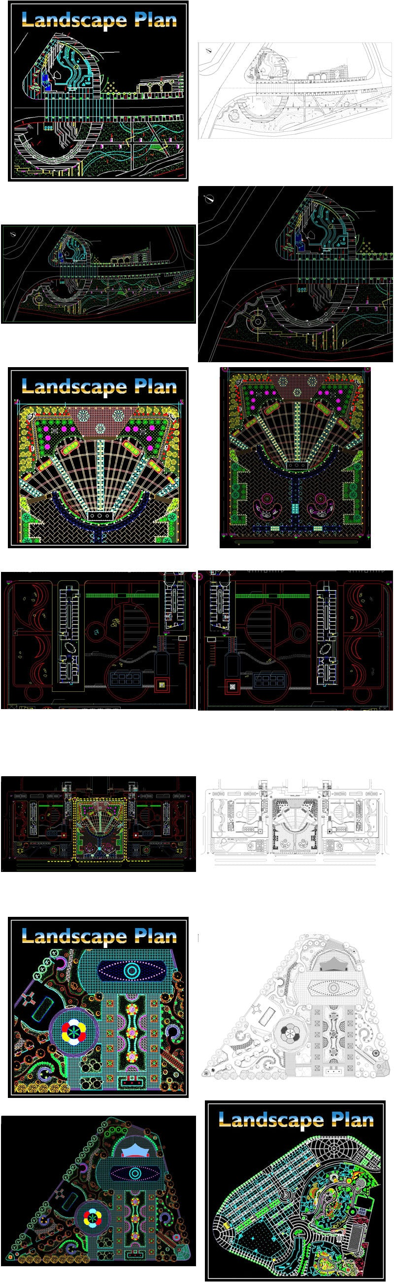 【All Urban Design CAD Drawings Collections】(Best Recommanded!!)
