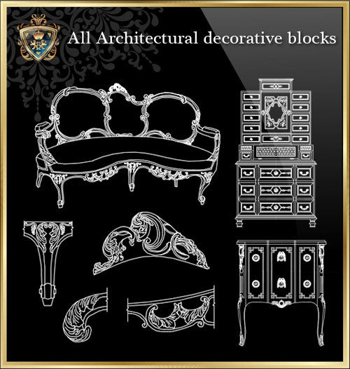All Architectural decorative blocks V.11