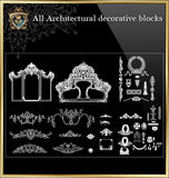 All Architectural decorative blocks V.7 - CAD Design | Download CAD Drawings | AutoCAD Blocks | AutoCAD Symbols | CAD Drawings | Architecture Details│Landscape Details | See more about AutoCAD, Cad Drawing and Architecture Details