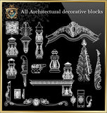 All Architectural decorative blocks V.4 - CAD Design | Download CAD Drawings | AutoCAD Blocks | AutoCAD Symbols | CAD Drawings | Architecture Details│Landscape Details | See more about AutoCAD, Cad Drawing and Architecture Details