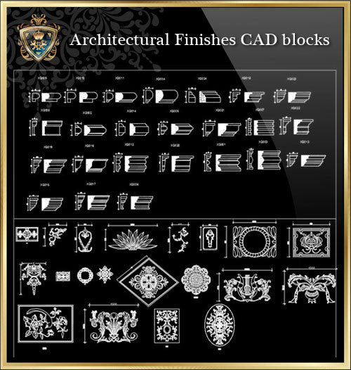Royal Architecturre Finishes CAD Blocks