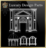 ★Luxury Interior Design Parts V.1★Best Recommanded!! - CAD Design | Download CAD Drawings | AutoCAD Blocks | AutoCAD Symbols | CAD Drawings | Architecture Details│Landscape Details | See more about AutoCAD, Cad Drawing and Architecture Details