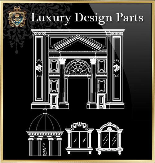 Royal Architecture Design Block 1 - CAD Design | Download CAD Drawings | AutoCAD Blocks | AutoCAD Symbols | CAD Drawings | Architecture Details│Landscape Details | See more about AutoCAD, Cad Drawing and Architecture Details