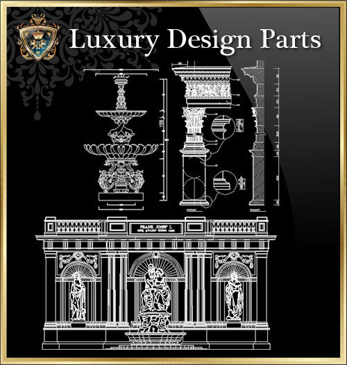 ★Luxury Interior Design Parts V.2★Best Recommanded!! - CAD Design | Download CAD Drawings | AutoCAD Blocks | AutoCAD Symbols | CAD Drawings | Architecture Details│Landscape Details | See more about AutoCAD, Cad Drawing and Architecture Details