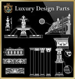 ★Luxury Interior Design Parts V.3★Best Recommanded!! - CAD Design | Download CAD Drawings | AutoCAD Blocks | AutoCAD Symbols | CAD Drawings | Architecture Details│Landscape Details | See more about AutoCAD, Cad Drawing and Architecture Details