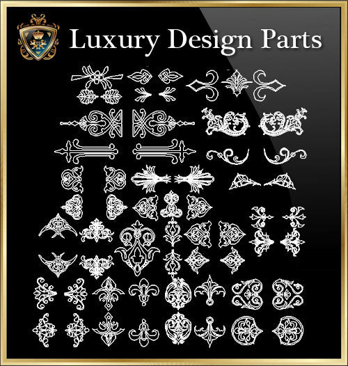 ★Luxury Interior Design Parts V.5★Best Recommanded!! - CAD Design | Download CAD Drawings | AutoCAD Blocks | AutoCAD Symbols | CAD Drawings | Architecture Details│Landscape Details | See more about AutoCAD, Cad Drawing and Architecture Details