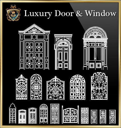 90 Types of Luxury Door & Window Design(Recommanded!!) - CAD Design | Download CAD Drawings | AutoCAD Blocks | AutoCAD Symbols | CAD Drawings | Architecture Details│Landscape Details | See more about AutoCAD, Cad Drawing and Architecture Details