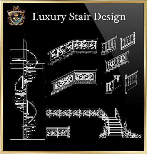 ★Luxury Interior Design -Stair Design★Best Recommanded!! - CAD Design | Download CAD Drawings | AutoCAD Blocks | AutoCAD Symbols | CAD Drawings | Architecture Details│Landscape Details | See more about AutoCAD, Cad Drawing and Architecture Details