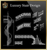 Royal Architecture Stair Design Drawings - CAD Design | Download CAD Drawings | AutoCAD Blocks | AutoCAD Symbols | CAD Drawings | Architecture Details│Landscape Details | See more about AutoCAD, Cad Drawing and Architecture Details