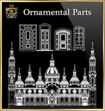 ★Architecture Ornamental Parts V.3★ - CAD Design | Download CAD Drawings | AutoCAD Blocks | AutoCAD Symbols | CAD Drawings | Architecture Details│Landscape Details | See more about AutoCAD, Cad Drawing and Architecture Details