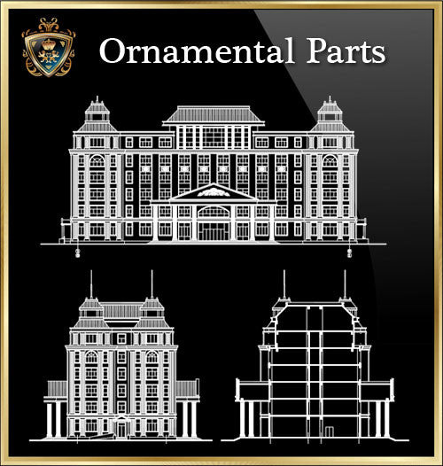 ★Architecture Ornamental Parts V.4★ - CAD Design | Download CAD Drawings | AutoCAD Blocks | AutoCAD Symbols | CAD Drawings | Architecture Details│Landscape Details | See more about AutoCAD, Cad Drawing and Architecture Details