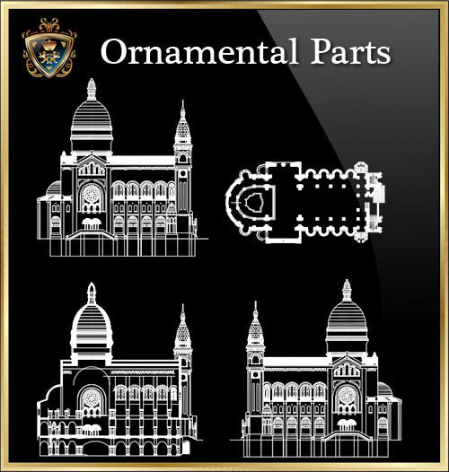 ★Architecture Ornamental Parts V.5★ - CAD Design | Download CAD Drawings | AutoCAD Blocks | AutoCAD Symbols | CAD Drawings | Architecture Details│Landscape Details | See more about AutoCAD, Cad Drawing and Architecture Details