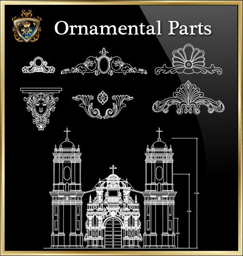 ★Architecture Ornamental Parts V.6★ - CAD Design | Download CAD Drawings | AutoCAD Blocks | AutoCAD Symbols | CAD Drawings | Architecture Details│Landscape Details | See more about AutoCAD, Cad Drawing and Architecture Details