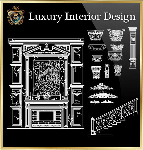 ★Luxury Interior Design Elements★Best Recommanded!! - CAD Design | Download CAD Drawings | AutoCAD Blocks | AutoCAD Symbols | CAD Drawings | Architecture Details│Landscape Details | See more about AutoCAD, Cad Drawing and Architecture Details