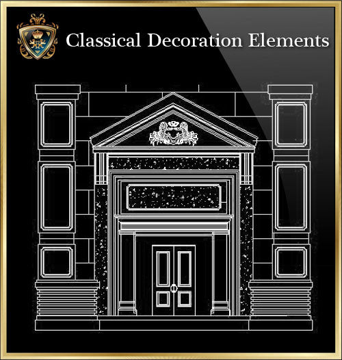 ★Luxury Interior Design -Classical Decoration Elements V.4★ - CAD Design | Download CAD Drawings | AutoCAD Blocks | AutoCAD Symbols | CAD Drawings | Architecture Details│Landscape Details | See more about AutoCAD, Cad Drawing and Architecture Details