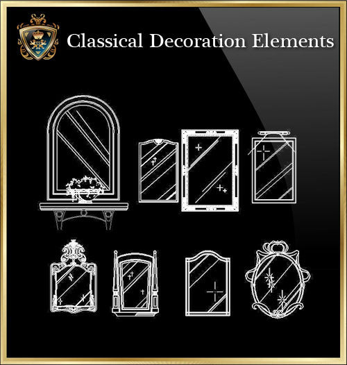 Free Classical Decoration Blocks V.1 - CAD Design | Download CAD Drawings | AutoCAD Blocks | AutoCAD Symbols | CAD Drawings | Architecture Details│Landscape Details | See more about AutoCAD, Cad Drawing and Architecture Details