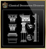 Free Classical Decoration Blocks V.4