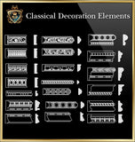 Free Classical Decoration Blocks V.5
