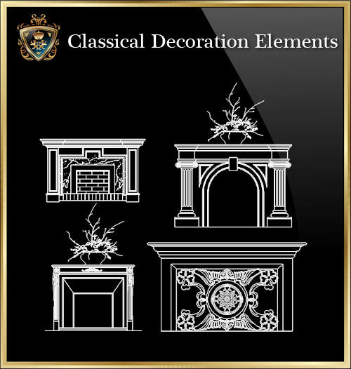 Free Classical Decoration Blocks V.7 - CAD Design | Download CAD Drawings | AutoCAD Blocks | AutoCAD Symbols | CAD Drawings | Architecture Details│Landscape Details | See more about AutoCAD, Cad Drawing and Architecture Details