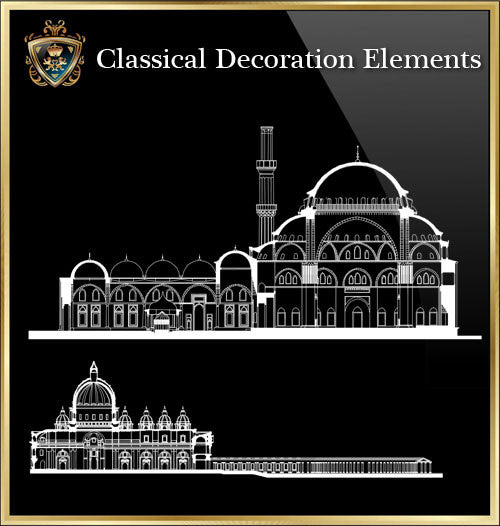 Free Classical Decoration Blocks V.16