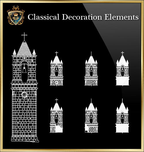 Free Classical Decoration Blocks V.17