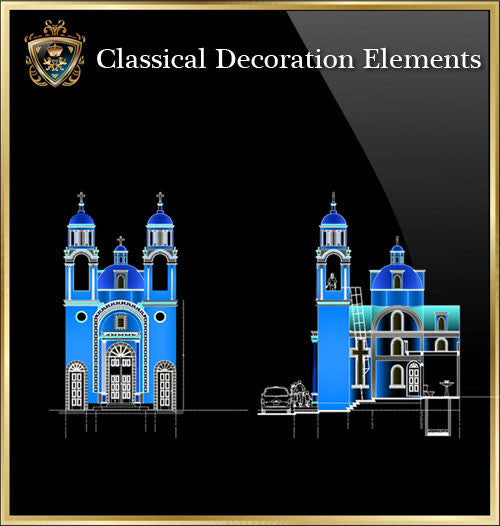 Free Classical Decoration Blocks V.18