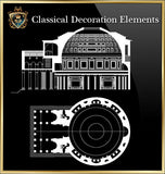 Free Classical Decoration Blocks V.19 - CAD Design | Download CAD Drawings | AutoCAD Blocks | AutoCAD Symbols | CAD Drawings | Architecture Details│Landscape Details | See more about AutoCAD, Cad Drawing and Architecture Details