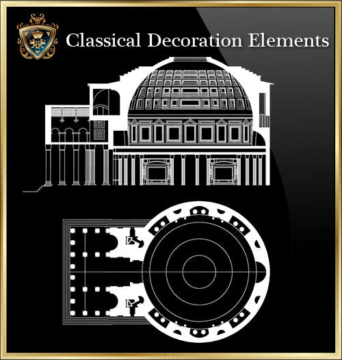 Free Classical Decoration Blocks V.19