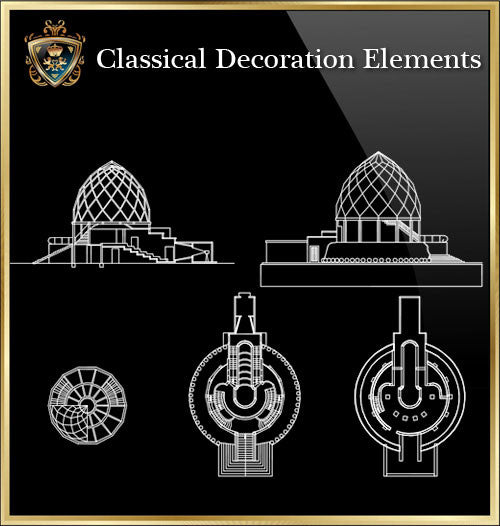 Free Classical Decoration Blocks V.20