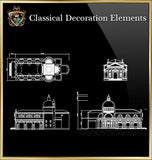 Free Classical Decoration Blocks V.21 - CAD Design | Download CAD Drawings | AutoCAD Blocks | AutoCAD Symbols | CAD Drawings | Architecture Details│Landscape Details | See more about AutoCAD, Cad Drawing and Architecture Details
