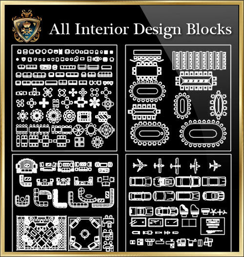 Interior Design CAD Blocks Collection V.1