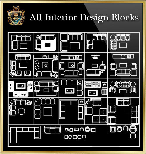 Interior Design CAD Blocks Collection V.4