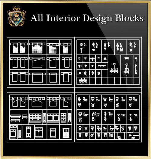 Interior Design CAD Blocks Collection V.5