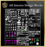 Interior Design CAD Blocks Collection V.6