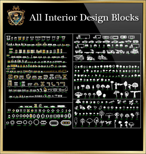 Interior Design CAD Blocks Collection V.7