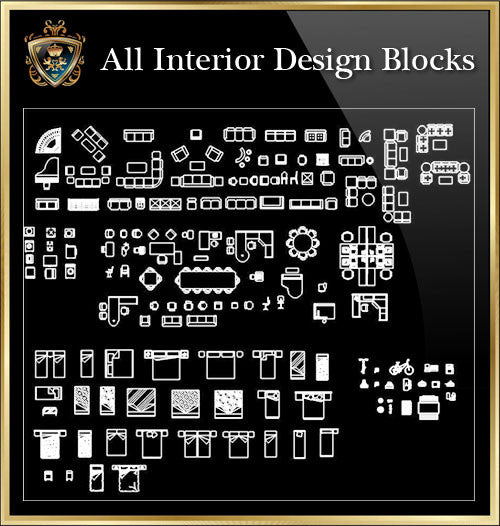 Interior Design CAD Blocks Collection V.8